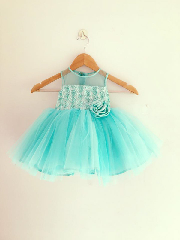 baby girl dress in ocean blue colour