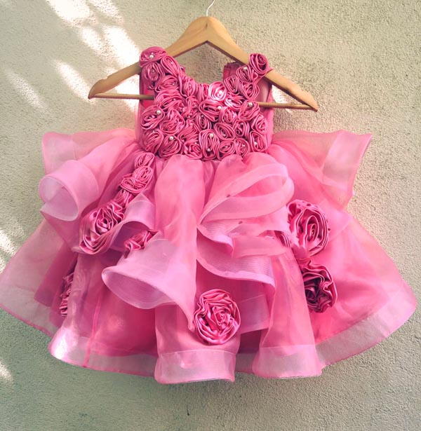 baby dress in pink