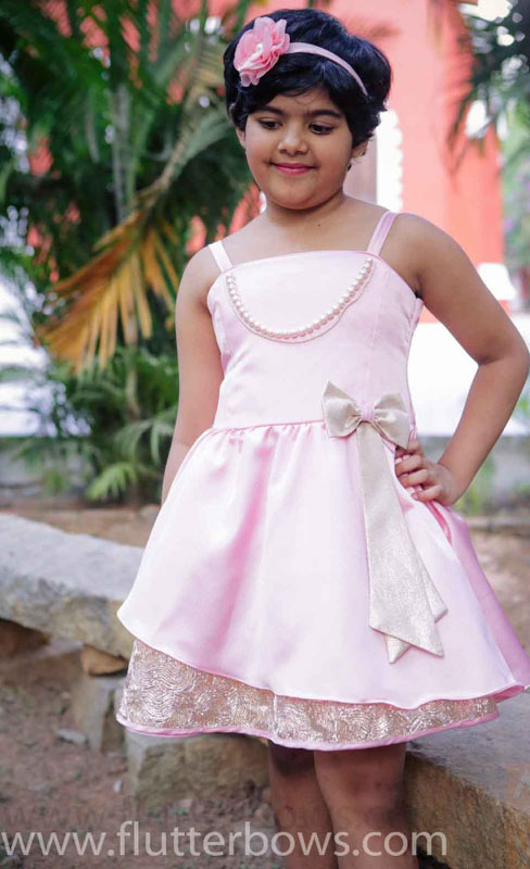 baby pink girls frock
