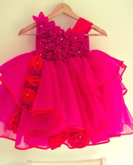 Pink dress for little girls