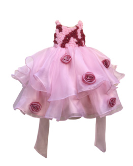 Baby pink dress for girls