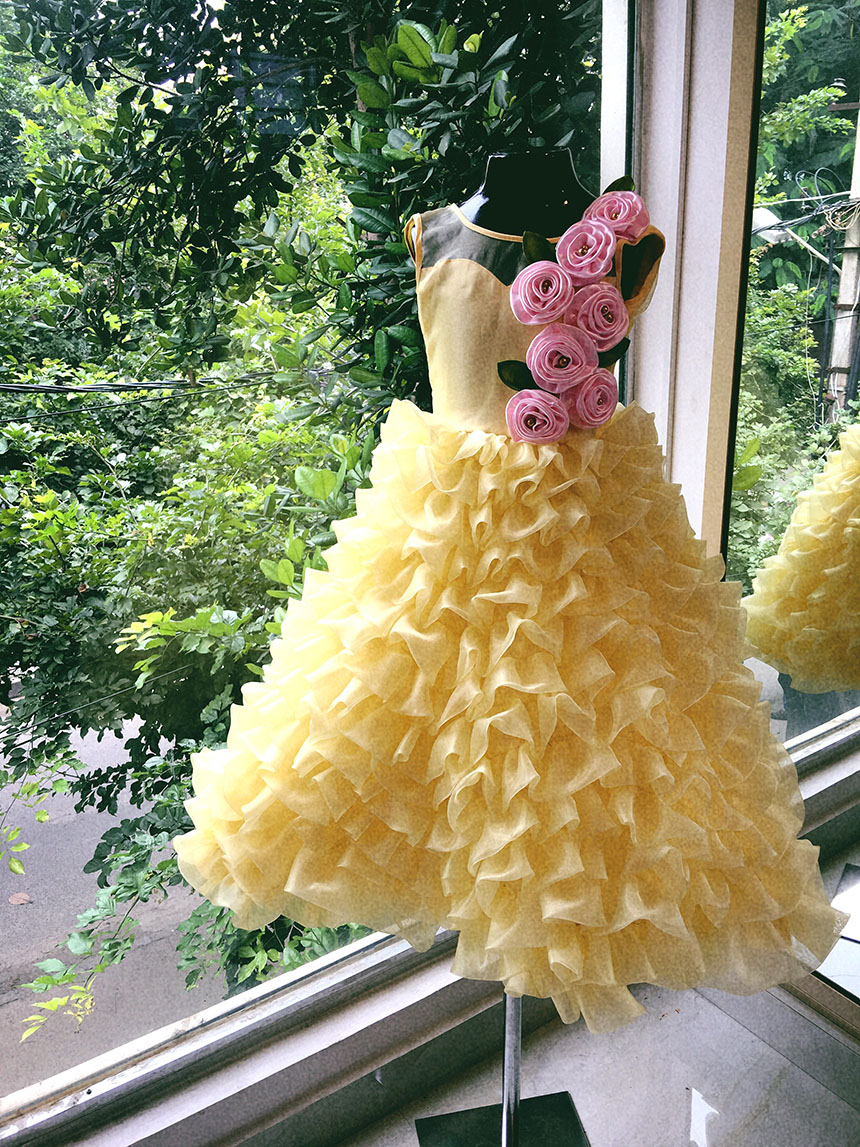 Yellow Party dress for girls
