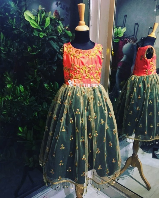 Atomic Tangerine Indian Party wear for girls