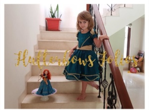 Brave Merida dress for themed party