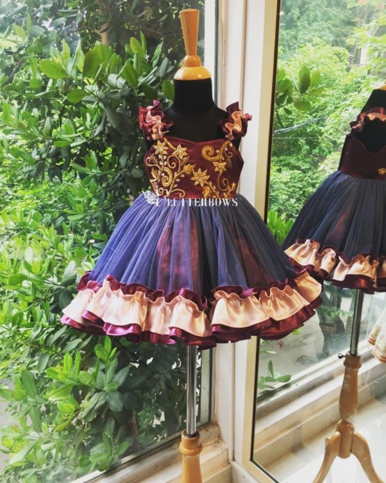 Orchid Gold party dress for girls