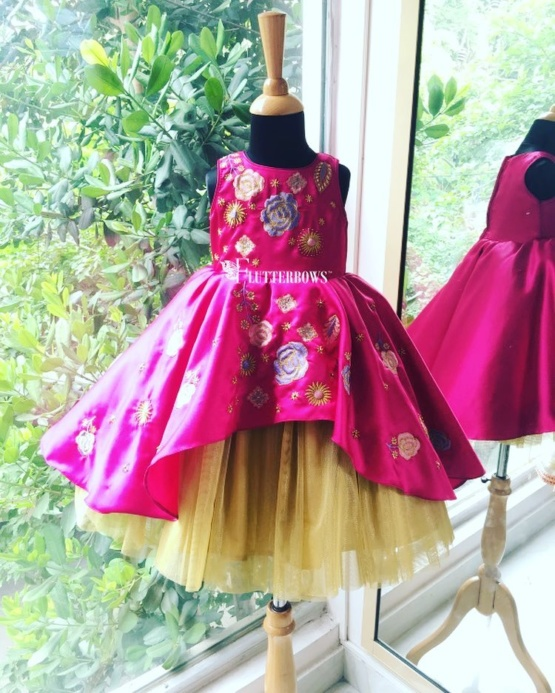 Eulla flower and leaf party wear for girls in bangalore