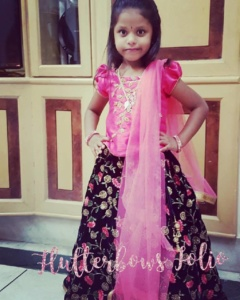 pink ghagra for little girls