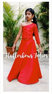 red gown for girls