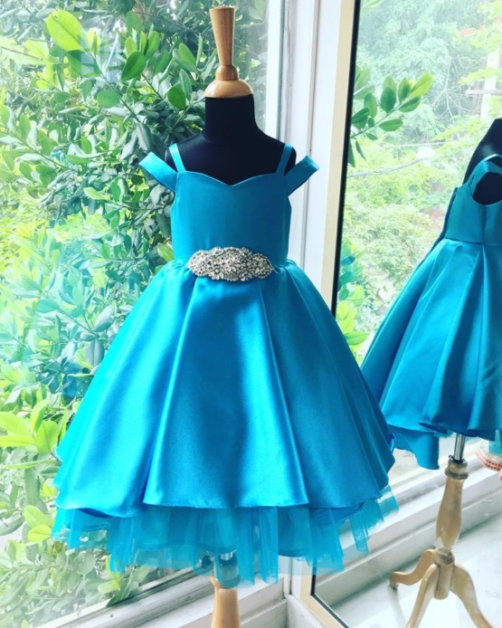 satin gown for kids
