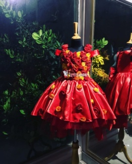 red party dress for girls