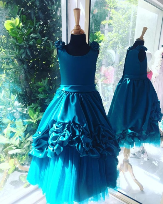 Blue Dress for Little Girls