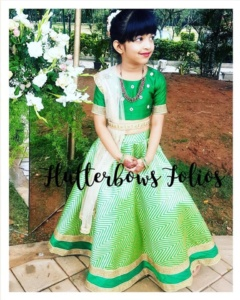 Green Lehenga for Little Girls