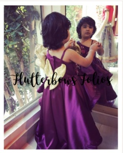 Purple Party Wear for Little Girls