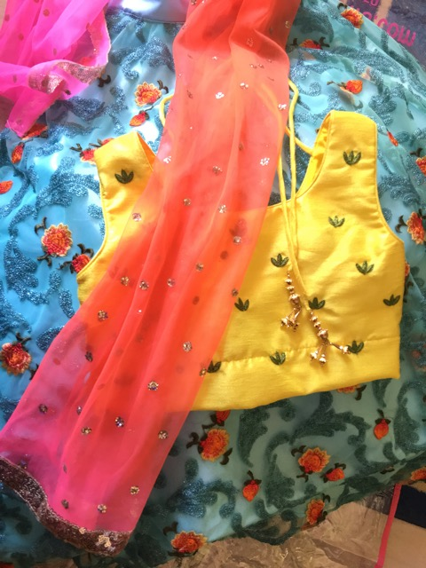 Sun Glow Ghagra Girl Dress