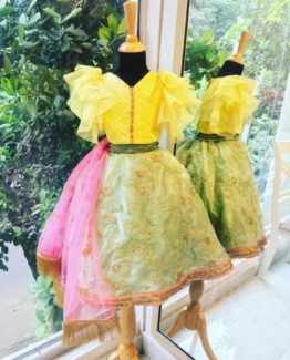 Daffodil Ghagra Set Girls Dresses