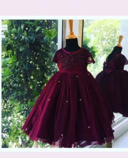 Deep Plum Girls Dresses