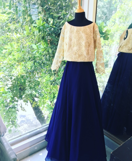 Golden Skirt Top Girl Dress