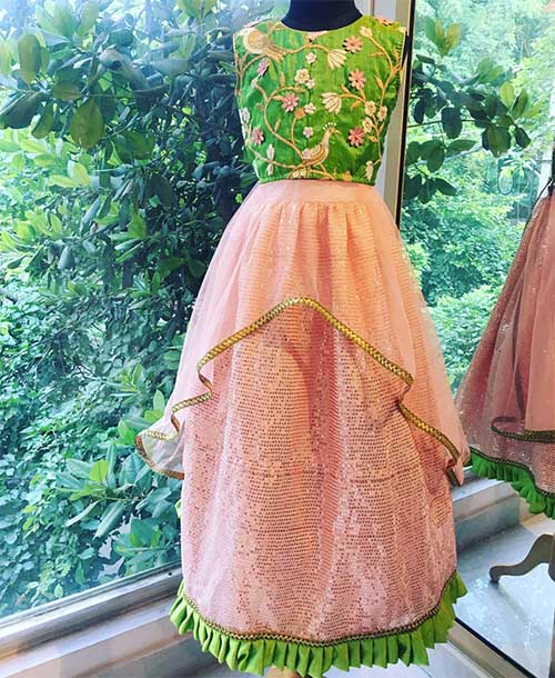 peachy-leaf-ghagra