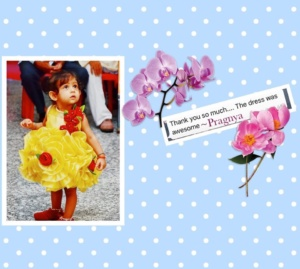 Yellow & Red Party Wear for Little Girls