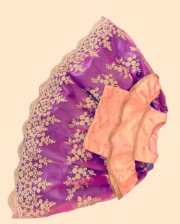 blue-purple-peach-ghagra