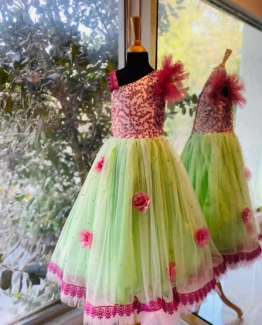 leafy-salmon-dress-for-girls