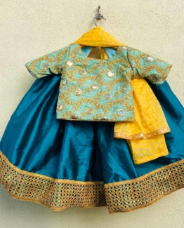 prusian-blue-dress-for-girls