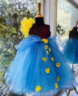 aqua-daisy-dress-for-girls
