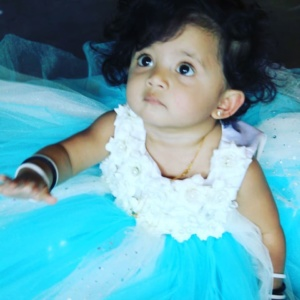 Beautiful Blue White Dress for Your Little One