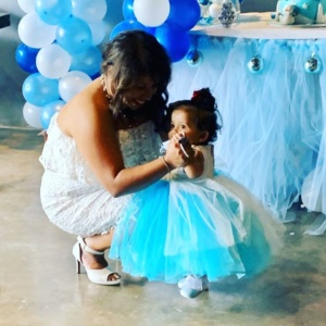 Beautiful Blue White Dress for Your Little One ii
