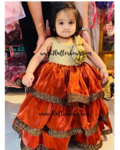 Gold Red Party Wear for Your Little One