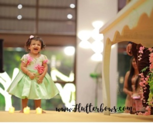 Green Pink Party Wear for Girls